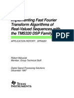 7343264 Fast Fourier Transform Algorithms of Real Valued Sequences With the Tms320 Family