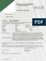 Notice of Jury Trial