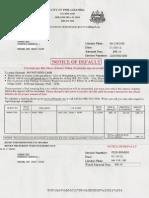 PA Ticket Notice of Default