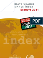 Climate Change Performance Index. Results 2011