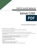 Konica Minolta - Parts Manual Bizhub C250