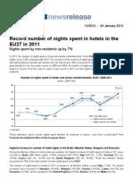 Eurostat 2011 Hotel Over Nights