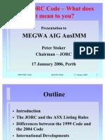 2006 Presentation (JORC)