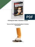 Kicking The Habit - A Smoker's Guide