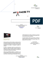 Présentation d' Artefacs.tv, WebTV dédiée culture et création artistique