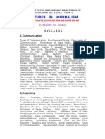 LECTURER IN JOURNALISM IN KERALA COLLEGIATE EDUCATION