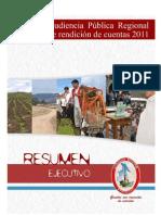 Resumen Ejecutivo 2da Audiencia Gra 2011