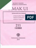 SIMAK UI 2011 (Kemampuan Dasar+Kemampuan Ips)