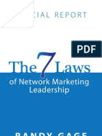 The 7 Laws of Network Marketing Leadership by Randy Gage