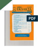 Jurnal Eksakta Tadulako Jan-Juni 2004