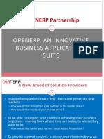 OpenERP Partners Presentation