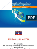 FDI Policy Lao_pdr-1 2010