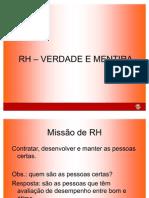 Artigo RH - Verdade e Mentira