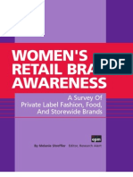 EPM -110109 - Womens Retail Brand Awareness