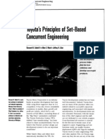 Toyota's Principle of Set-Based Concurrent Engineering
