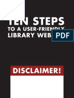 10 Steps to a User-Friendly Library Website