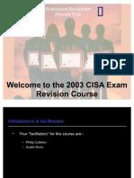 The CISA Course Presentation 2003 v2