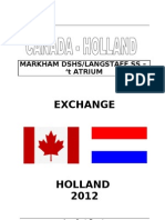 Canada Holland Exchange 2012