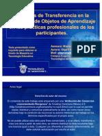 Procesos de transferencia de la formación de objetos de aprendizaje en las prácticas profesionales de los participantes