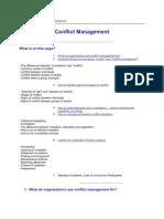 Building an organization conflict management