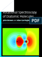Rotational Spectroscopy of Diatomic Molecules, Brown J, CUP 2003