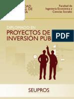 Brouchure Del Diplomado en Proyectos de Inversion Publica