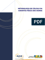 NT - metodologia de cálculo da GF para novas usinas