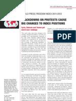 RSF World Press Freedom Index 2011-12