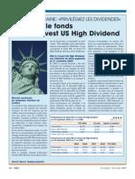 Focus sur le fonds ING US High Dividend (Banque & Finance - Nov 2009)