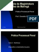 Prática Processual Penal - aula 4 - DOSIMETRIA