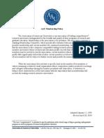 AAU Membership Policy