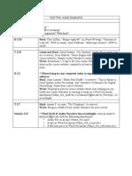 Schedule Unit2
