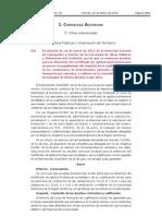 Resolución Convocatorias  CAP 2012 - Región de Murcia