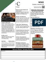 Jan Bulletin