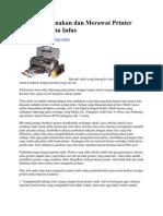 Tips Menggunakan Dan Merawat Printer Memakai Tinta Infus