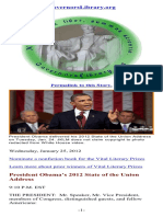 President Obama's 2012 State of the Union Address