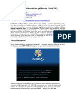 Instalación en modo gráfico de CentOS 5