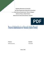Analisis Personal Industrializacion en Venezuela