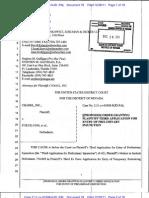 Preliminary Order in Chanel v Eukuk Nevada