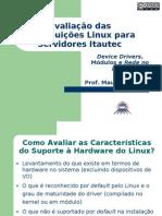 Avaliação das Distribuições Linux - DD e Rede