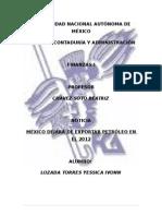 MEXICO DEJARA DE EXPORTAR EL PETROLLEO EN EL 2012