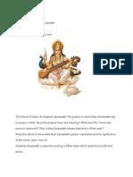 Devine Posture of Sri Saraswathii