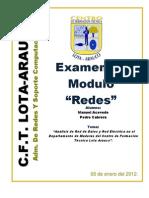 Analisis de Red de Datos y Red Electrica de Dpto Maderasl