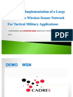 Design and implement ion of a large scale secure wireless sensor network for tactical military application by A.shahgholi