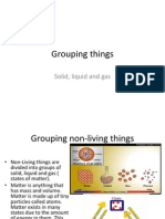 Grouping Things Solid Liquid and Gas