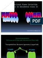 Unilateral Class II Correction Bio Mechanics