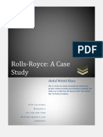 Rolls Royce A Case Study by Wahid311