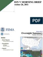 FEMA Region v Morning Brief 10-26-2011