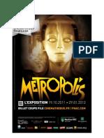 Dossier Presse Metropolis 1