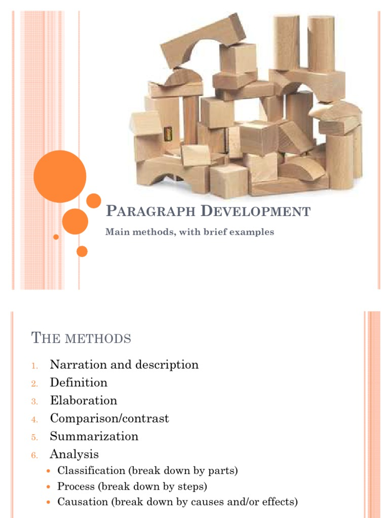 methods of paragraph development by definition